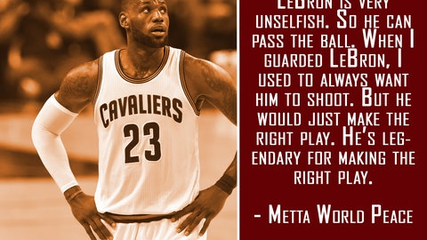 On LeBron James