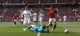 Marcus Rashford got rewarded for this awful dive, but Gylfi Sigurdsson's lovely free kick served justice