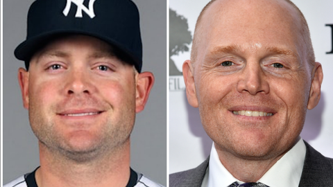 Houston Astros C Brian McCann and comedian Bill Burr