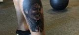 Photo: Odell Beckham Jr. unveils Michael Jackson calf tattoo