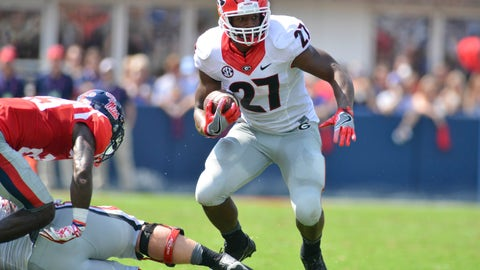 Patriots: Nick Chubb, RB, Georgia