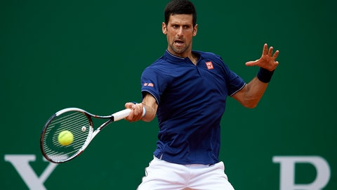 MONTE-CARLO, MONACO - APRIL 18:  Novak Djokovic of Serbia in action against Gilles Simon of France during day three of the ATP Monte Carlo Rolex Masters Tennis at Monte-Carlo Sporting Club on April 18, 2017 in Monte-Carlo, Monaco.  (Photo by fotopress/Getty Images)