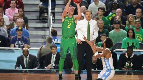 Casey Benson fires the long-range jumper.