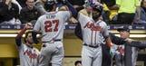 Kemp's three home runs top Nelson, Brewers