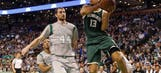 Without three starters, Bucks fall to Celtics