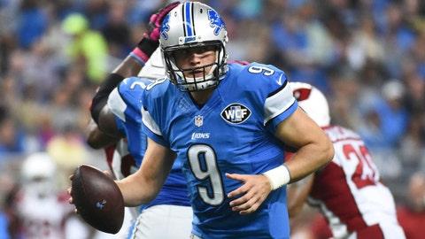 Nov. 12: Week 10 at Lions, 1 p.m. CBS