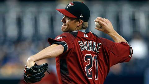 D-backs starting pitcher Zack Greinke (1-3, 3.28 ERA)