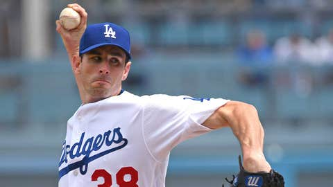 Dodgers starting pitcher Brandon McCarthy (2-0, 1.50 ERA)