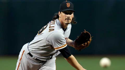 Giants starting pitcher Jeff Samardzija