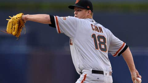 Giants starting pitcher Matt Cain (0-1, 8.31)