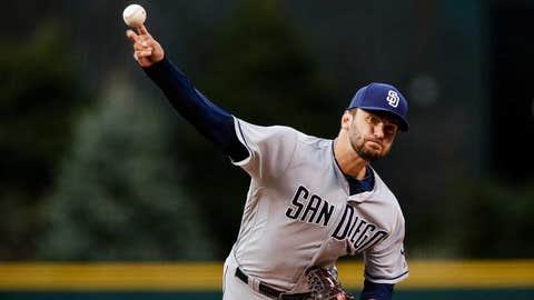 Padres starter Jarred Cosart (0-0, 3.86 ERA)