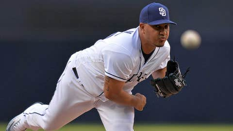 Padres starting pitcher Jhoulys Chacin (1-2, 7.80)