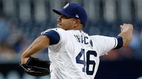 Padres starting pitcher Jhoulys Chacin (2-2, 4.70 ERA)