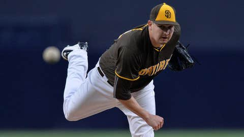 Padres starting pitcher Trevor Cahill (1-2, 3.44 ERA)