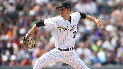Rockies starting pitcher Kyle Freeland (2-1, 3.32 ERA)