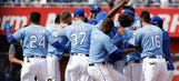 Esky hits walk-off, Kennedy pitches gem as Royals sweep Angels