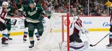 Five Wild players score in win over Avalanche