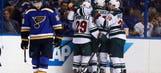 Wild look to complete rare 4-game comeback vs. Blues