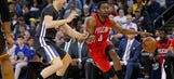 Short-handed Pelicans fall 123-101 to Warriors