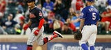 Late grand slam give Indians 9-6 win over Rangers
