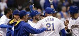 Brewers outlast Cubs, win 11-inning thriller on wild pitch