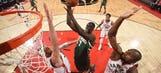 Bucks battle to the end, but Raptors tie series in Game 2