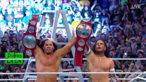 The Hardy Boyz won the Fatal Four Way ladder match to become the new Raw Tag Team Champions