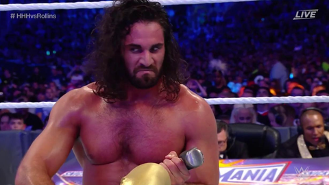 Seth Rollins defeated Triple H