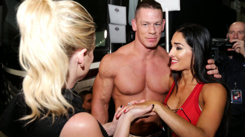 Cena and Nikki Bella on if they'll get married in a wrestling ring: