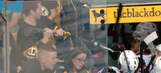 Bruins fan tries to steal stick from Senators player after game, learns his lesson