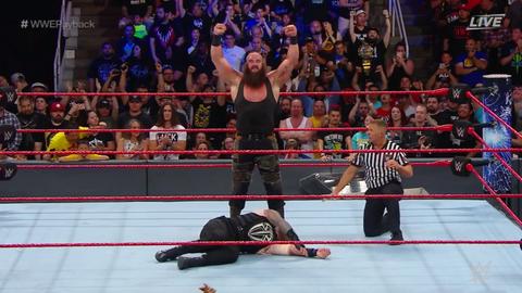 Braun Strowman defeated Roman Reigns