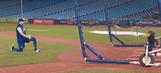 Troy Tulowitzki's 3-year-old son Taz absolutely rakes during batting practice