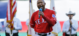 Tony Beasley sings national anthem at Opening Night