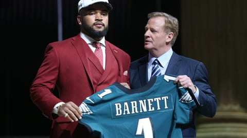 Derek Barnett, DE, Eagles: 14th overall