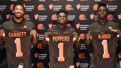 Four rookies will emerge as starters for the Browns