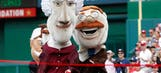 Easter Bunny demolishes Teddy Roosevelt in Presidents' race at Nationals' game
