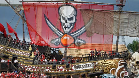 Soft-lit feature on dude who fires cannons after Bucs touchdowns