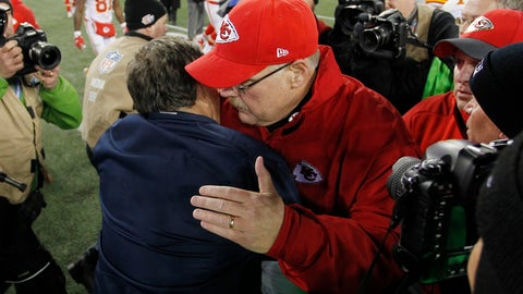 The bromance between Bill Belichick and Andy Reid