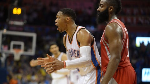 Rockets over Thunder in six (or seven) games