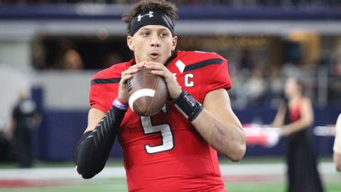 Kansas City Chiefs: Patrick Mahomes, QB, Texas Tech