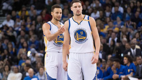 Most likely to turn into a human volcano: Klay Thompson