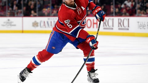 Shea Weber, D, Montreal Canadiens