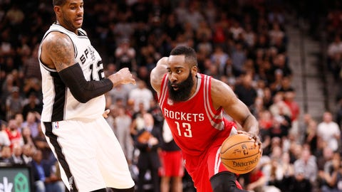 The Rockets will handle the Spurs in the second round