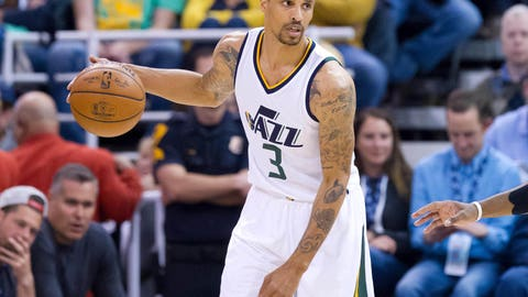 Stephen Curry can't check off-ball George Hill