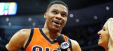 Westbrook sets triple-double record, Thunder beat Nuggets