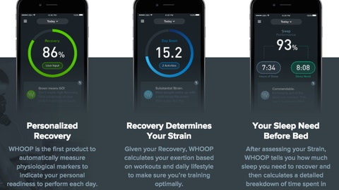 WHOOP measures recovery, strain and sleep performance