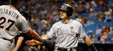 Realmuto drives in 4, Marlins triumph over Rays