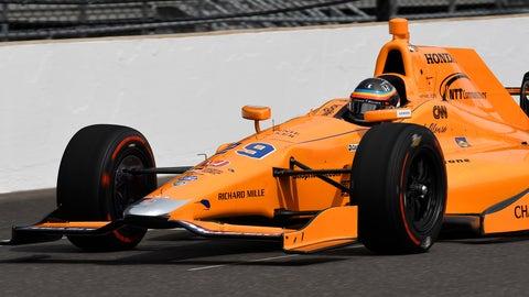 Alonso on track