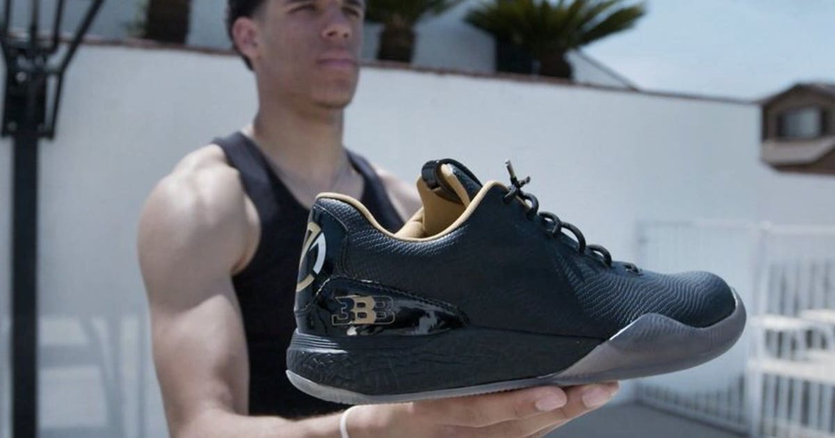 5fef7aca130a Lonzo Ball unveils his first Big Baller Brand signature shoe for nearly   500