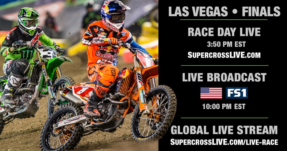watch race day live for the las vegas supercross fox sports. Black Bedroom Furniture Sets. Home Design Ideas